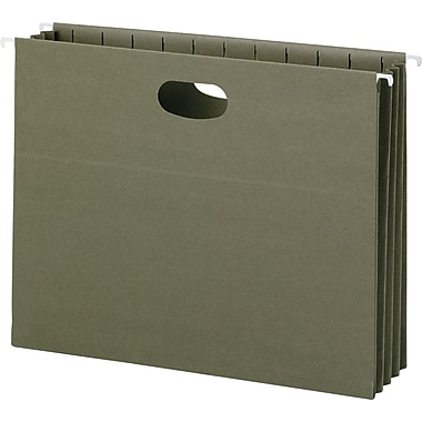 100% Recycled Hanging Pockets With Full-Height Gusset, Letter, , Green, 10/Box