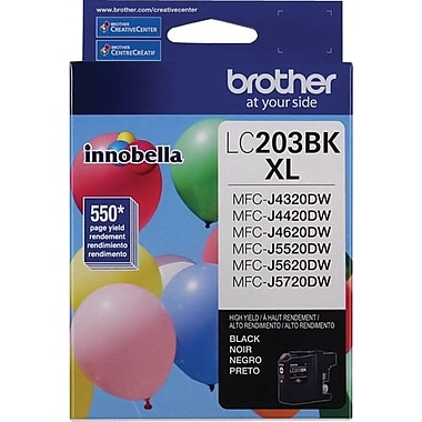 Brother LC203 Black Ink Cartridge, High Yield (LC203BKS)