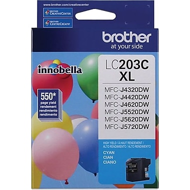 Brother LC203CS Cyan Ink Cartridge, High-Yield