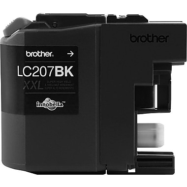 Brother LC207 Black Ink Cartridge, Super High Yield (LC207BKS)