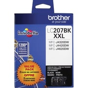 Brother LC207 Black Ink Cartridges, Super High Yield, 2/Pack (LC2072PKS)
