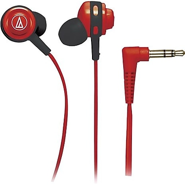 Audio Technica Core Bass In-Ear Headphones, Red