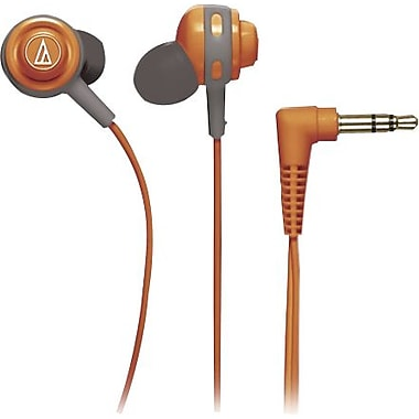 Audio Technica Core Bass In-Ear Headphones, Orange