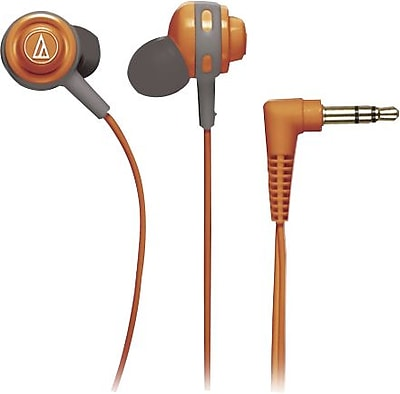 Audio Technica Core Bass In-Ear Headphones, Orange