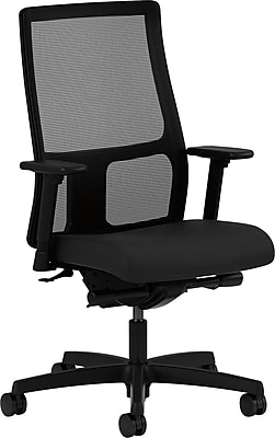 HON Ignition Fabric Executive Office Chair, Adjustable Arms, Black (HONIW108CU10)
