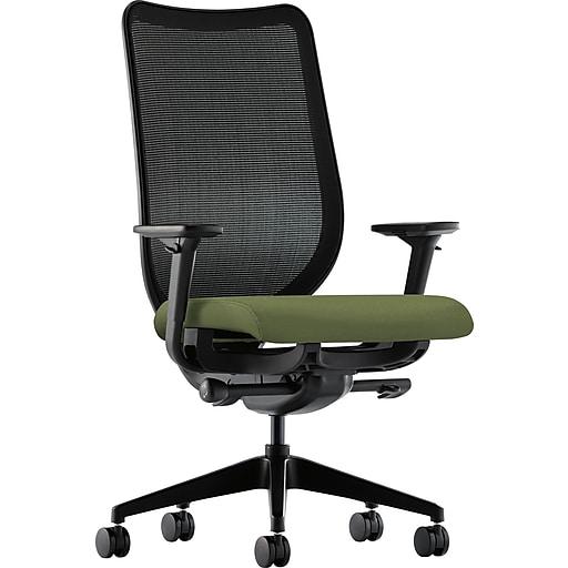 "HON® Nucleus Series Task Chair, ilira®-stretch M4® Fabric, Seat: 20""W x 20""D, Back: 25-1/4""H x 19-1/4""W, Black"