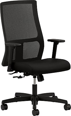 HON Ignition Executive Office Chair, Fixed Arms, Black (HONIW101CU10)