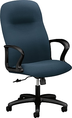basyx by HON Gamut Fabric Executive Office Chair, Fixed Arms, Cerulean (HON2071CU90T)