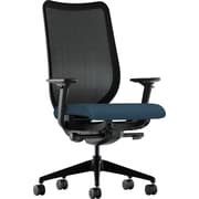basyx by HON Nucleus Fabric Executive Office Chair, Adjustable Arms, Cerulean (HONN103CU90)