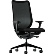 HON Nucleus Task Chair, Black ilira-Stretch Back, Synchro-Tilt, Seat Glide, Adjustable Arms, Black Fabric NEXT2018 NEXT2Day