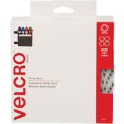 "Velcro® 3/4"" Dots Combo Pack Velcro Tape, White, 200/Case"