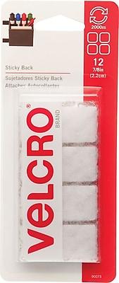 VELCRO® Squares, White