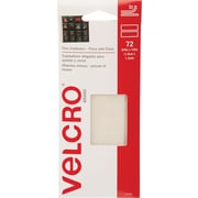 "Velcro® 3/4"" x 1/2"" Hook to Hook Fastener, Clear, 72/Pack"