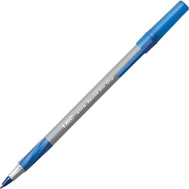 BIC® - Stylos à bille Stic Grip™ ronds, 1,2 mm, bleu, paq./12