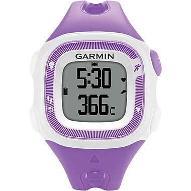Garmin Forerunner® 15 Fitness Watch, Violet/White, Small