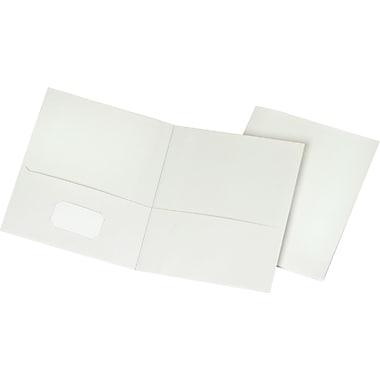 Staples School Grade 2 Pocket Folder White 25 Box 50760 27537