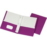 Staples School Grade 2 Pocket Folder with Fasteners, Purple, 25/Box (50776/27544-CC)