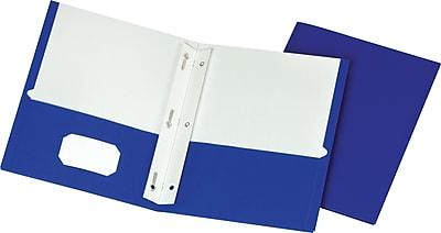 Staples School Grade 2 Pocket Folder With Fasteners Blue 25box