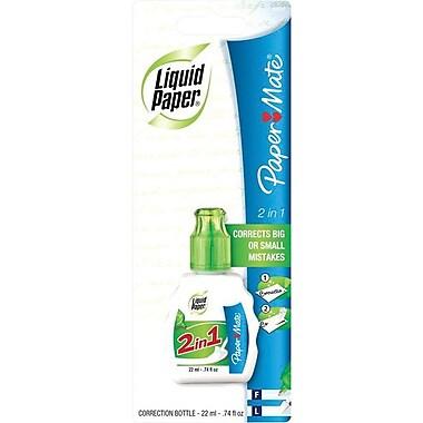 Papermate® - Fluide correcteur Liquid Paper® 2-en-1, 22 ml