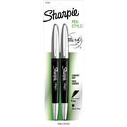 Sharpie® Pen Grip, 0.8 mm Fine Tip, Black, 0.8 mm Black 2/Pack (1760500)