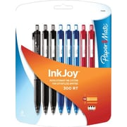 Paper Mate InkJoy 300RT Ballpoint Pen, Retractable, 1.0mm, 8/Pack