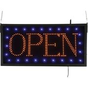 "KC Store Fixtures 12260 11.75"" x 23.75"" Plastic ""Open"" LED sign"