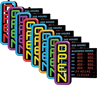 Green Light Innovations Spectrum Vertical Digital Hours Sign