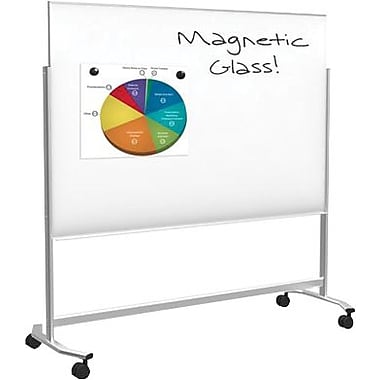 balt visionary move mobile magnetic glass dry erase board steel frame 6u0027w - Glass Dry Erase Board