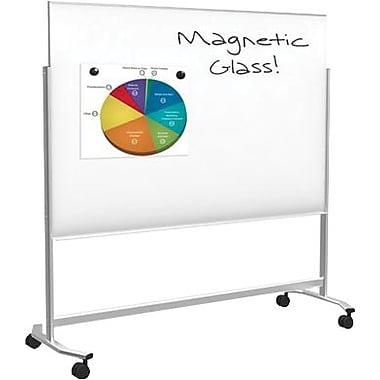 balt visionary move mobile magnetic glass dry erase board steel frame 6u0027w