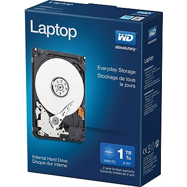 WD - Disque dur interne Mainstream 1 To pour portatif, SATA, 3 Go/s, 2,5 po (WDBMYH0010BNC)