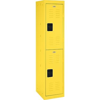 Double tier locker, recessed handle, yellow