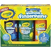 Crayola® Washable Bright Finger-paints, Secondary Colors, 8 oz.