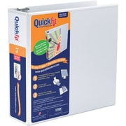 "Stride® QuickFit™ View Binder with Round Rings, White, 600-Sheet Capacity, 3"" Ring"