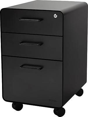 Stow 3 Drawer File Cabinet WCasters, Black. Rollover Image To Zoom In.  Https://www.staples 3p.com/s7/is/