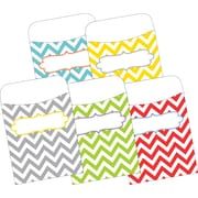 Barker Creek Library Pockets, Beautiful Chevron, 30/Pack
