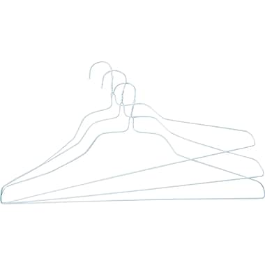Steel Wire White Shirt Hanger, 18in, 500/Pack