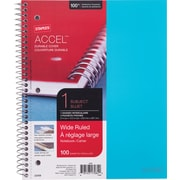 "Staples® Accel, Durable Poly Cover Notebook, Wide Ruled, 8"" x 10-1/2"", Teal (20961M)"