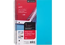 Staples® Accel, Durable Poly Cover Notebook, Wide Ruled, 8' x 10-1/2', Teal (20961M)
