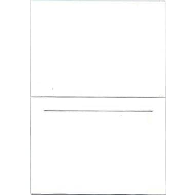 JAM Paper® Blank Foldover Cards, 4bar / A1 size, 3 1/2 x 4 7/8, White Linen Panel, 100/pack (309899)