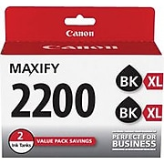 Canon PGI-2200XL Black High Yield Ink Cartridge, 2/Pack (9255B006)