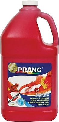 Prang® (Dixon Ticonderoga®) Washable Ready-to-Use Paint, Red, 128 oz.