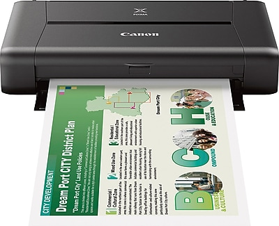 Canon® PIXMA® IP110 Wireless Color Inkjet Single-Function Mobile Printer (9596B002)