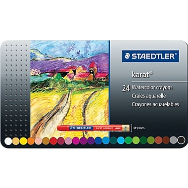Staedtler Karat Aquarell Watercolour Crayons, 24-Colour Set