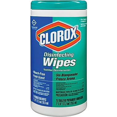 Clorox® Disinfecting Wipes, Fresh Scent, 75 Count Canister, 6 Canister/Case