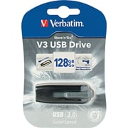 Store 'N' Go V3 Usb 3.0 Drive, 128gb, Black/Gray