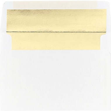 Great Papers® Gold Foil Lined A7 Envelopes, 25/Pack