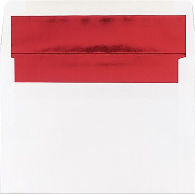 Great Papers® Red Foil Lined A7 Envelopes, 25/Pack