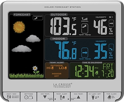 La Crosse Technology Color LCD Wireless Weather Station with USB charging port (308-1412S)