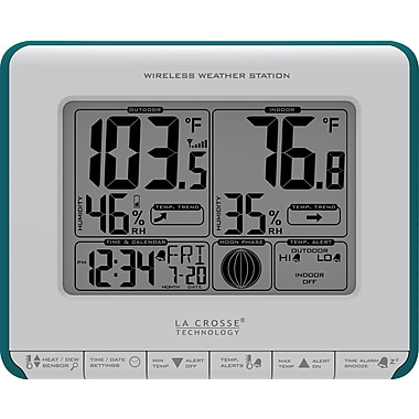 La Crosse Technology 308-1711BL Wireless Weather Station with Heat Index & Dew Point