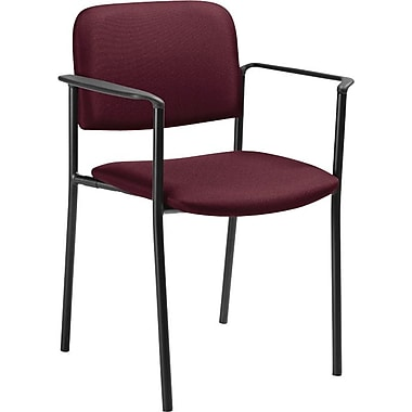 Offices To Go® Minto Stacking Armchair, Vermillion